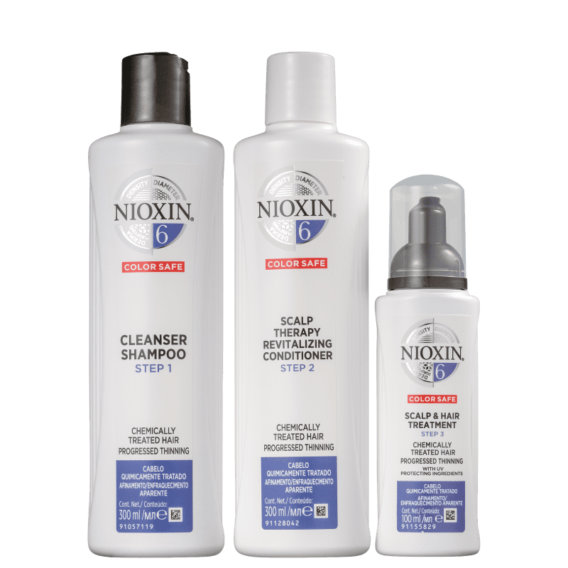 Kit Nioxin System 6 (3 Produtos)