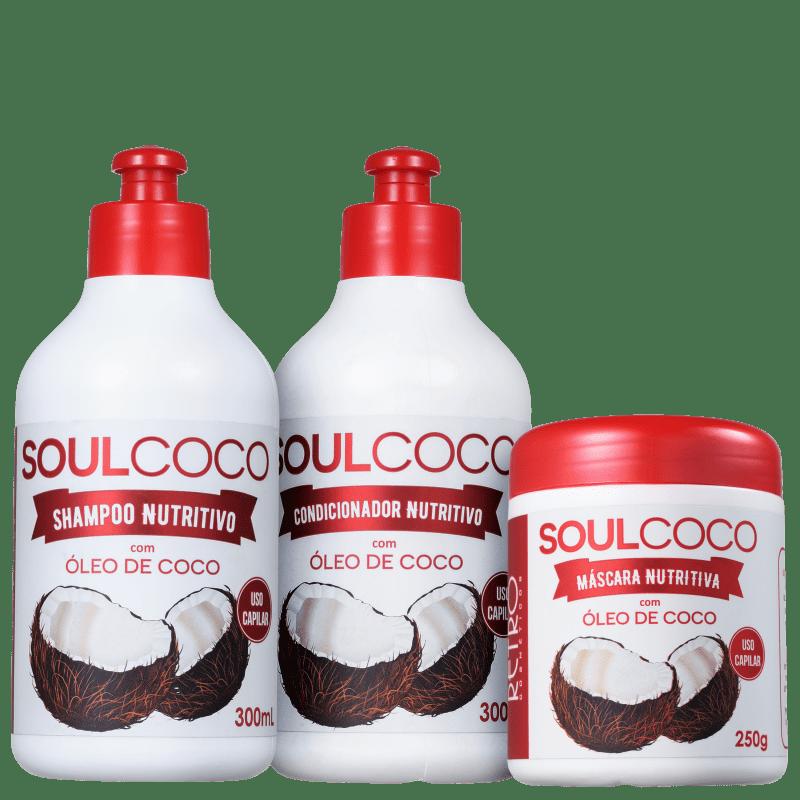 Kit Retrô Cosméticos Soul Coco Trio (3 Produtos)
