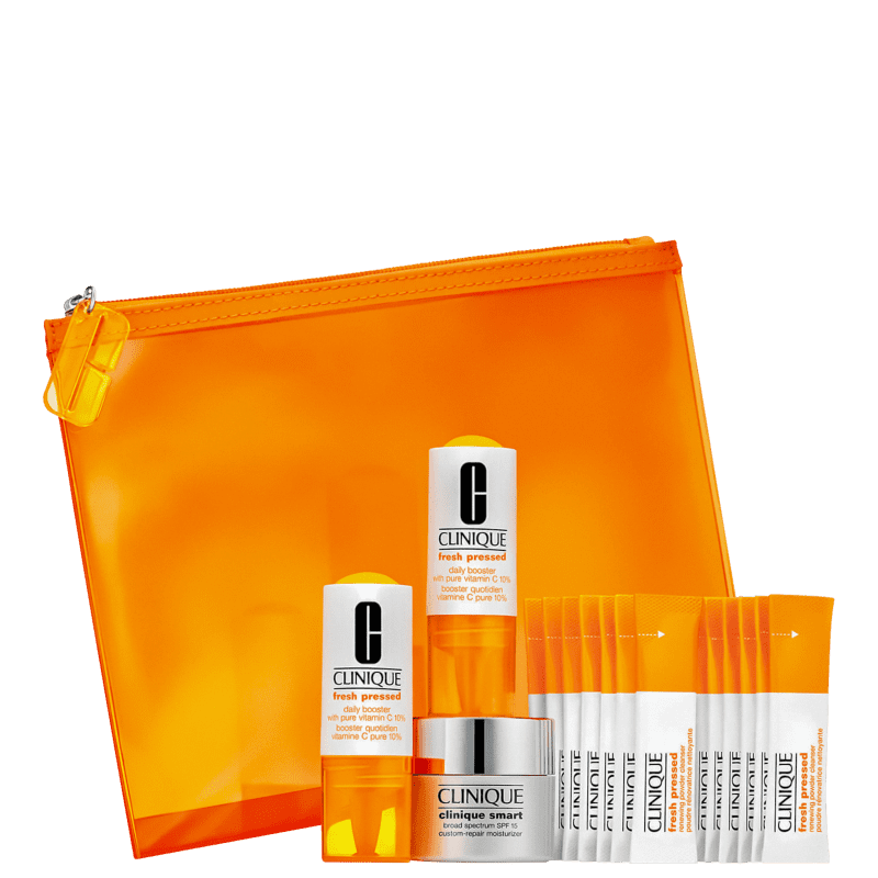 Kit Clinique Fresh Pressed 14-Day System (3 Produtos + Nécessaire)