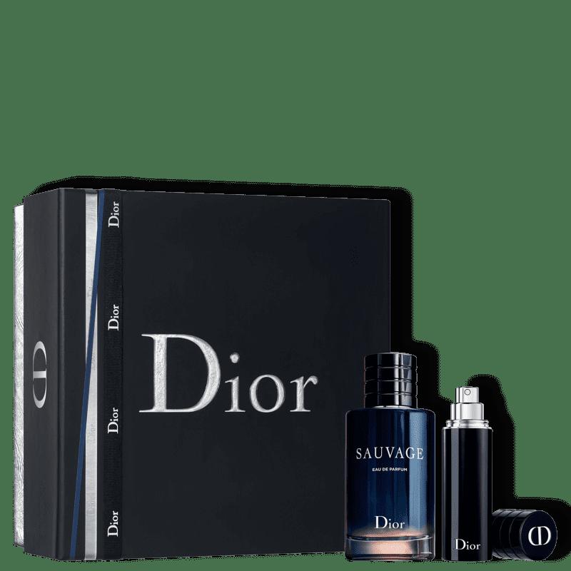 Conjunto Sauvage Dior Masculino - Eau de Parfum 100ml + Miniatura 9ml