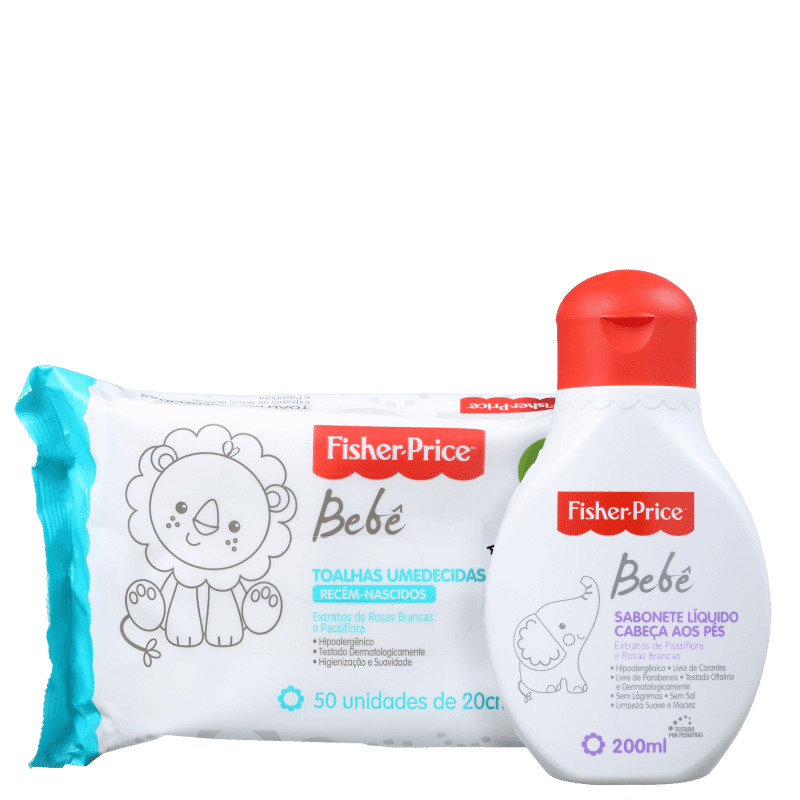 Kit Fisher-Price Bebê Limpeza (2 Produtos)