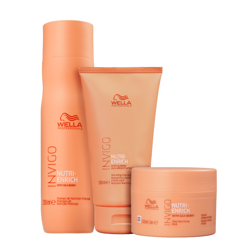 Kit Wella Professionals Invigo Nutri-Enrich Express Trio (3 Produtos)