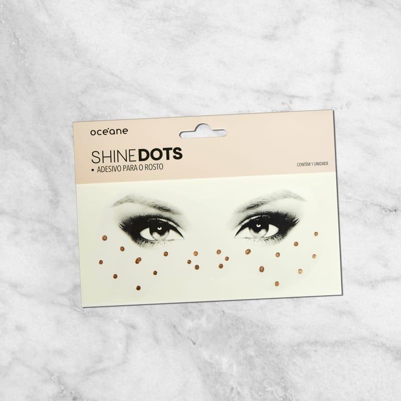 Shine Dots Dourado - Adesivos para o rosto SD2