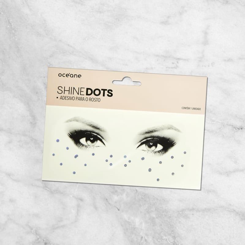 Shine Dots Prata - Adesivos para o rosto SD2