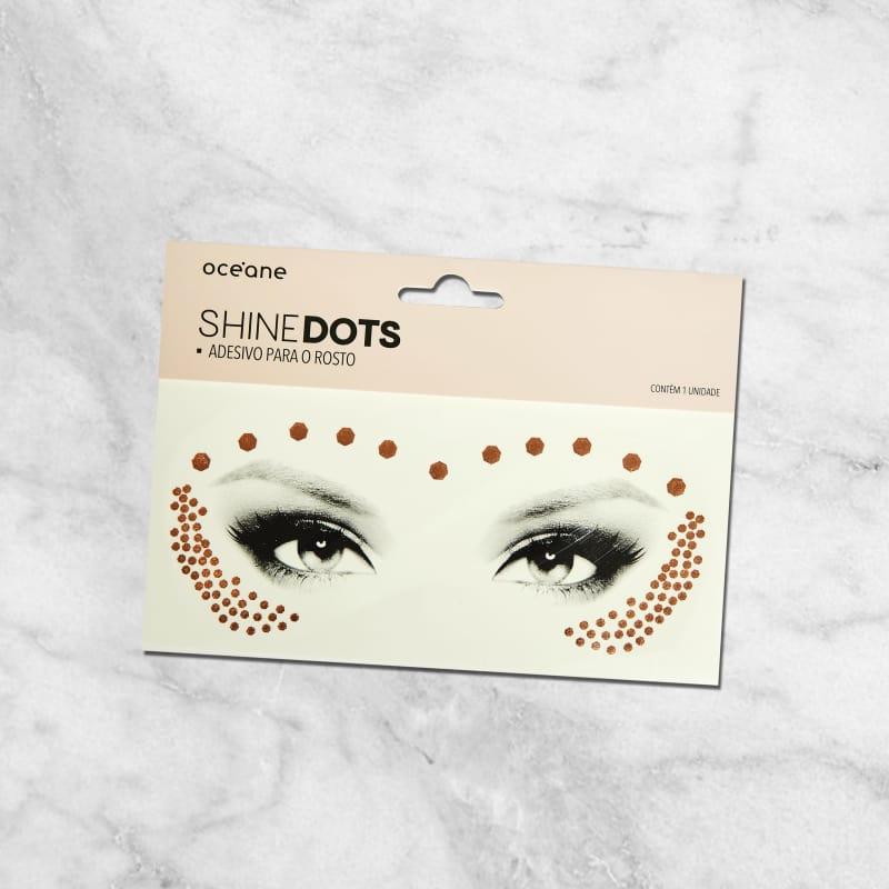 Shine Dots Rose - Adesivos para o rosto SD3