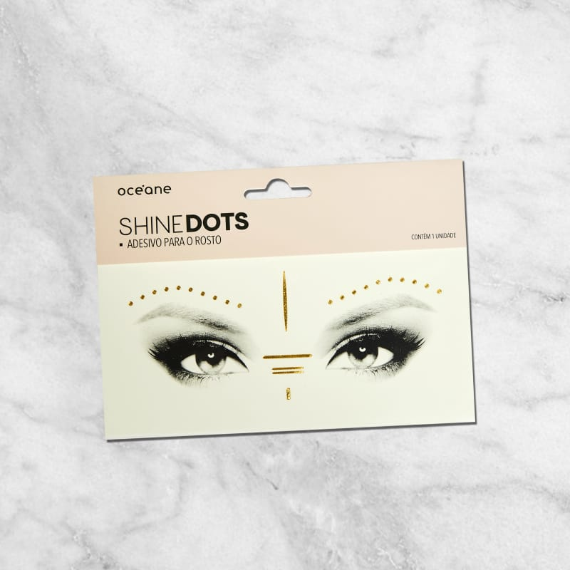 Shine Dots Dourado - Adesivos para o rosto SD4