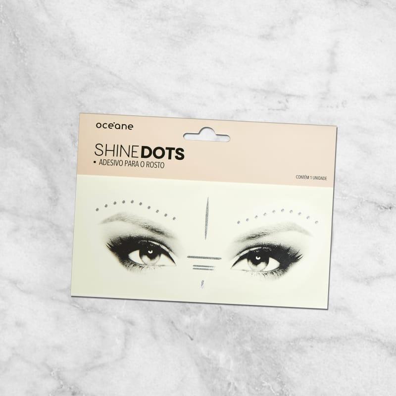 Shine Dots Prata - Adesivos para o rosto SD4