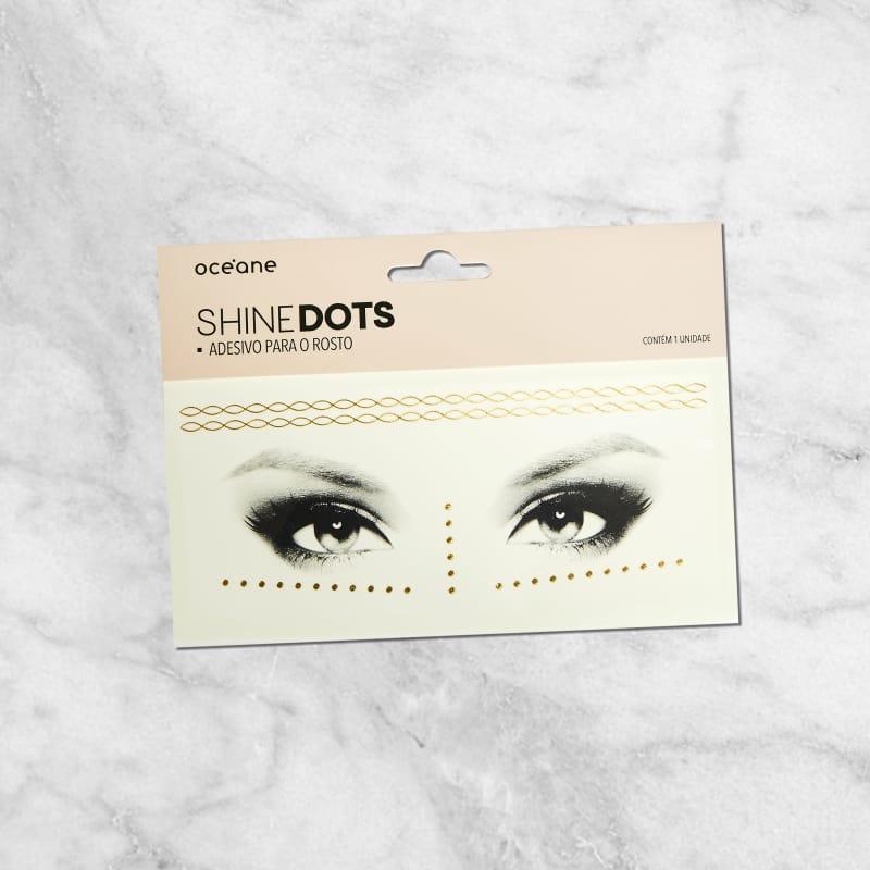 Shine Dots Dourado - Adesivos para o rosto SD5