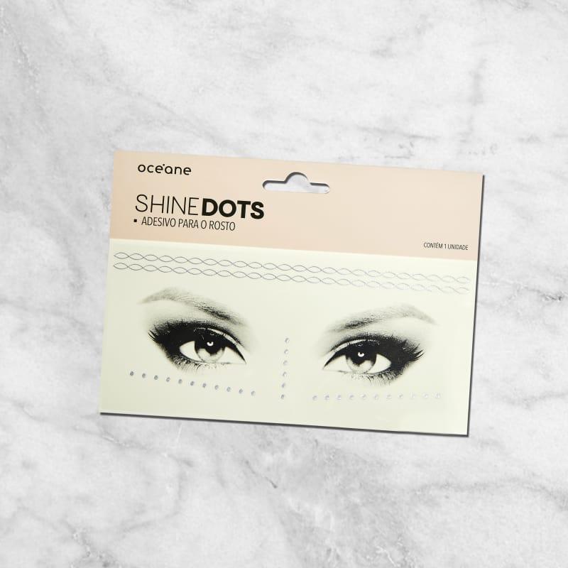 Shine Dots Prata - Adesivos para o rosto SD5