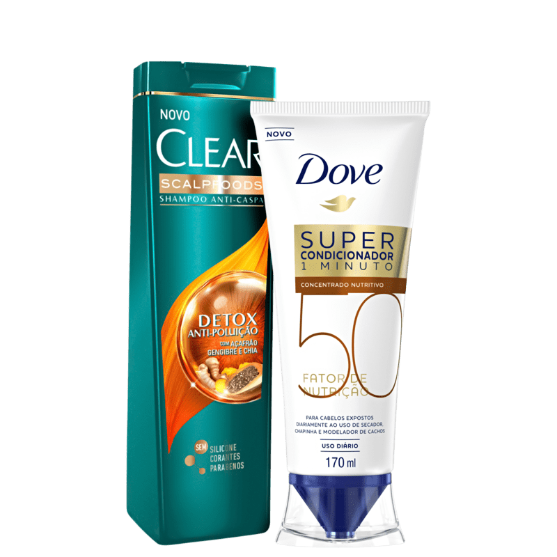 Kit Dove Clear + Limpeza & Hidratação (2 Produtos)
