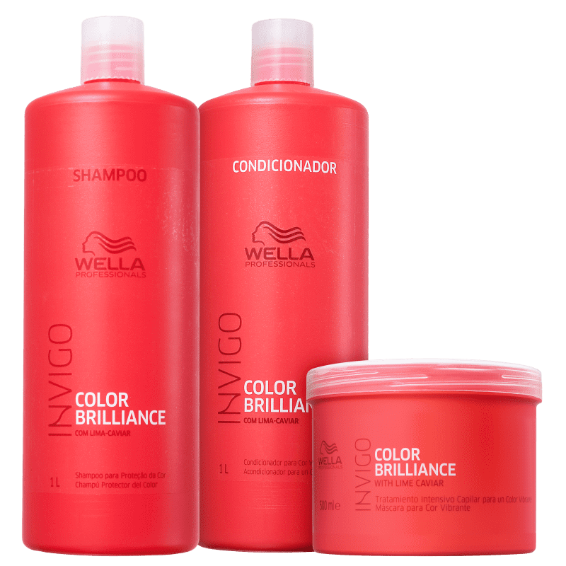 Kit Wella Professionals Invigo Color Brilliance Salon Trio (3 Produtos)