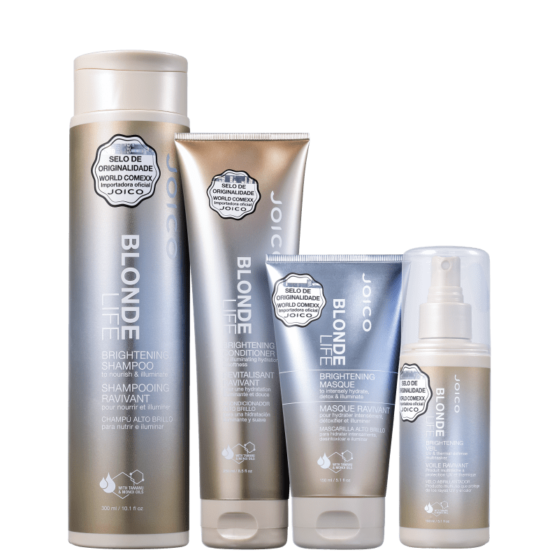 Kit Joico Blonde Life Brightening Completo (4 Produtos)