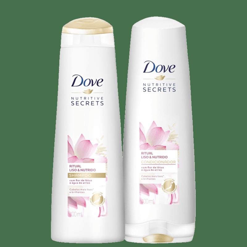 Kit Dove Ritual Liso e Nutrido Duo (2 Produtos)