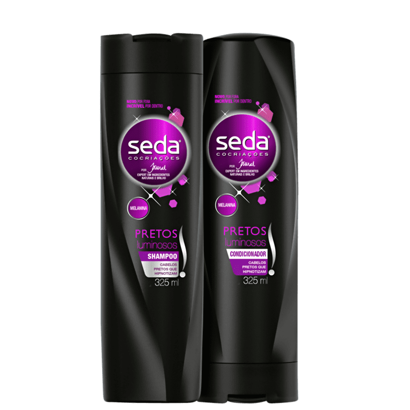 Kit Seda Pretos Luminosos Duo (2 Produtos)