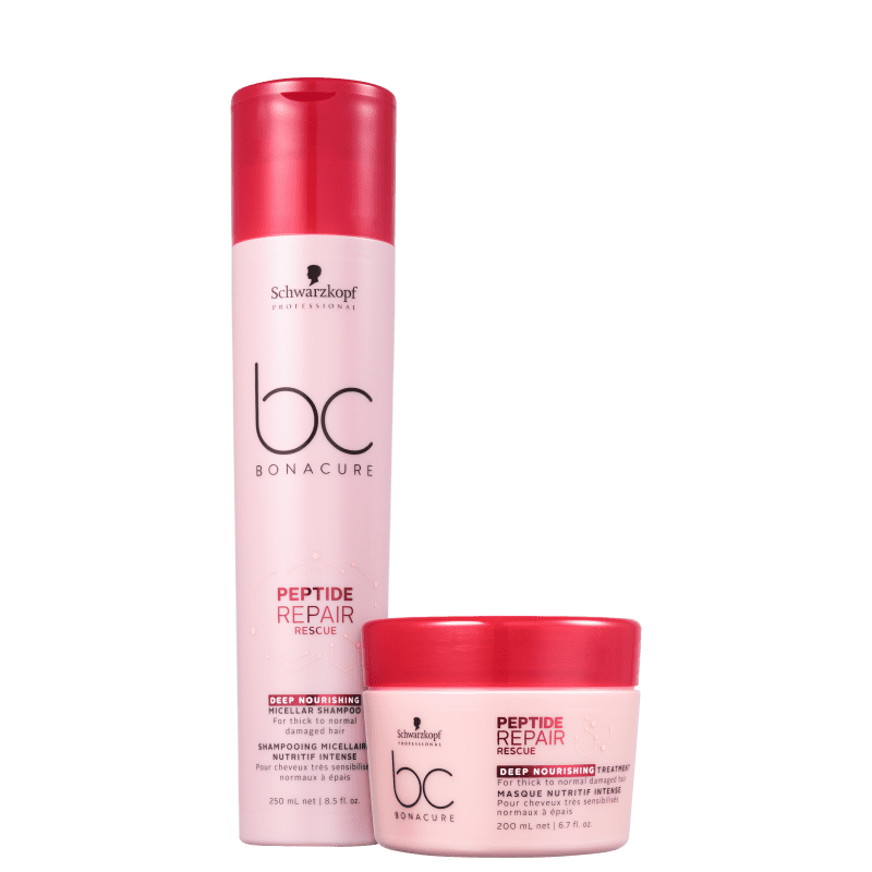 Kit Schwarzkopf Professional BC Bonacure Peptide Repair Rescue Deep Nourish Duo (2 Produtos)