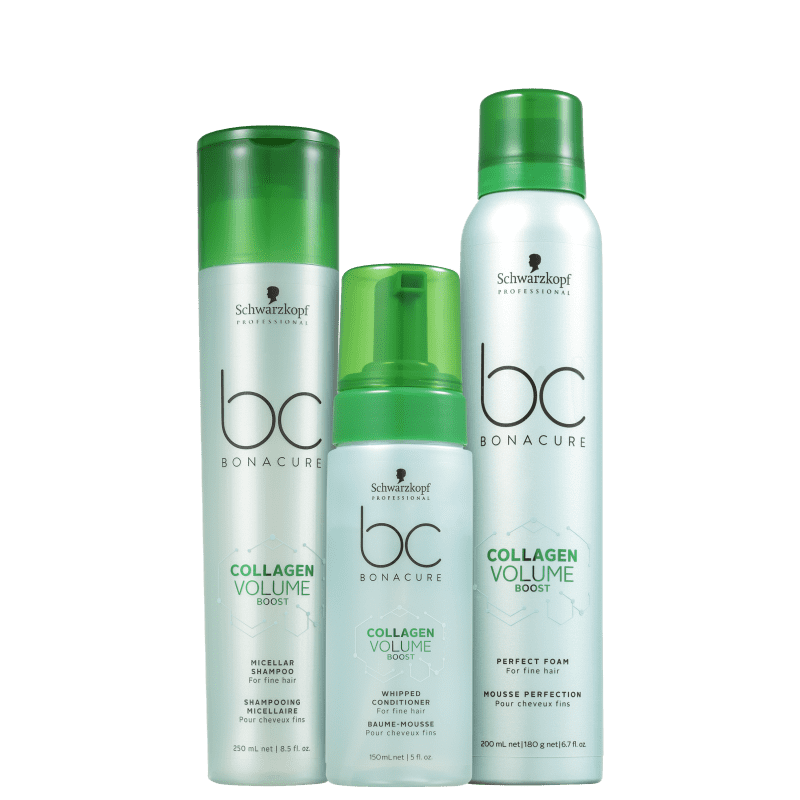 Kit Schwarzkopf Professional BC Bonacure Collagen Volume Trio (3 Produtos)