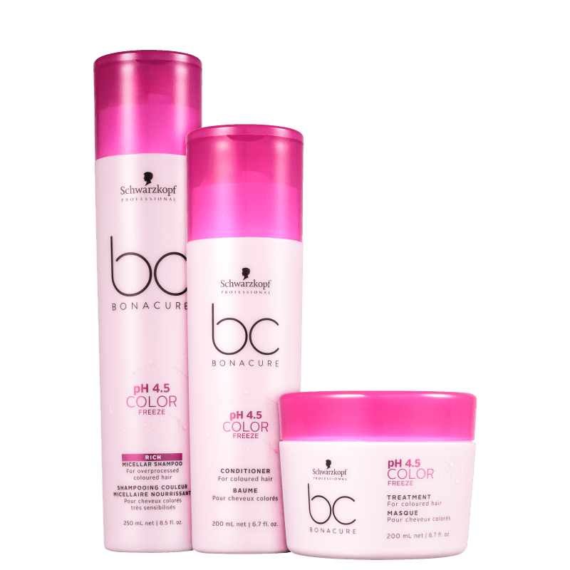 Kit Schwarzkopf Professional BC Bonacure pH 4.5 Color Freeze Home Care Trio (3 Produtos)