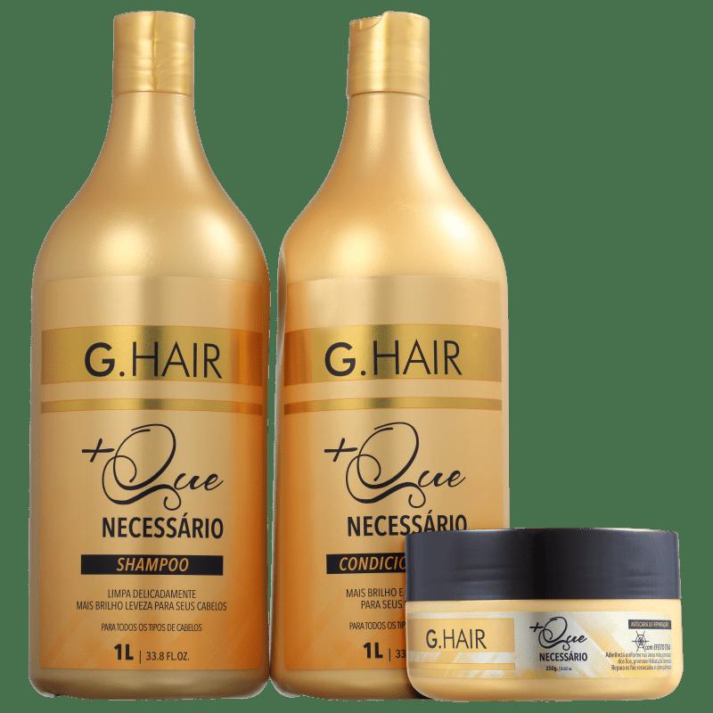 Kit G.Hair +Que Necessário Hidratação (3 Produtos)