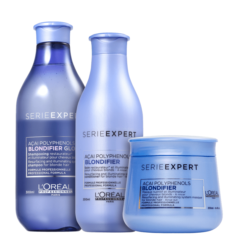 Kit L'Oréal Professionnel Serie Expert Blondifier Gloss Trio (3 Produtos)