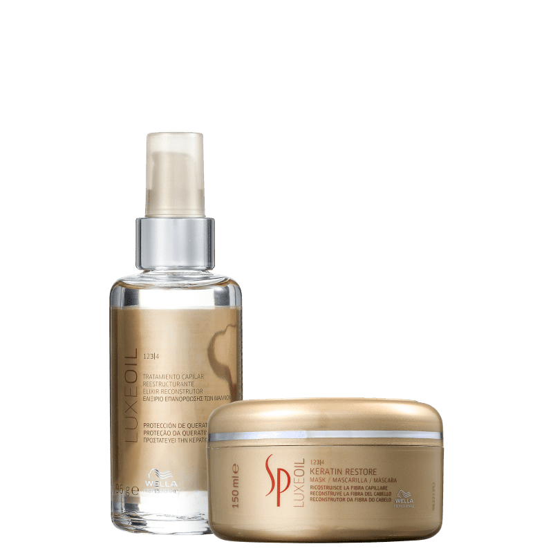 Kit SP System Professional Luxe Oil Keratin Restore (2 Produtos)