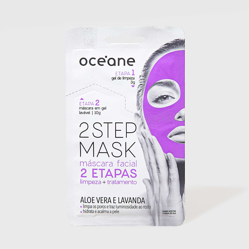 2 Step Mask - Máscara Facial Aloe Vera e Lavanda