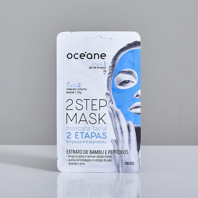 2 Step Mask - Máscara Facial Noturna Bambu e Peptídeos
