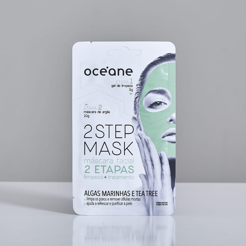 2 Step Mask - Máscara Facial Algas Marinhas e Tea Tree