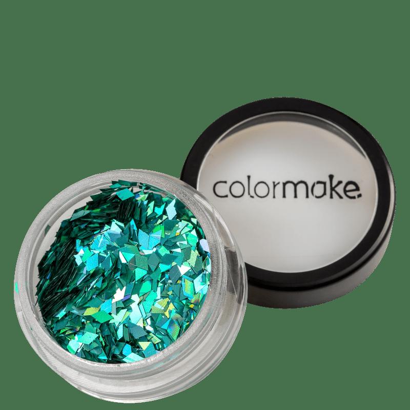 Colormake Shine Formatos Diamante Azul Turquesa - Glitter 2g