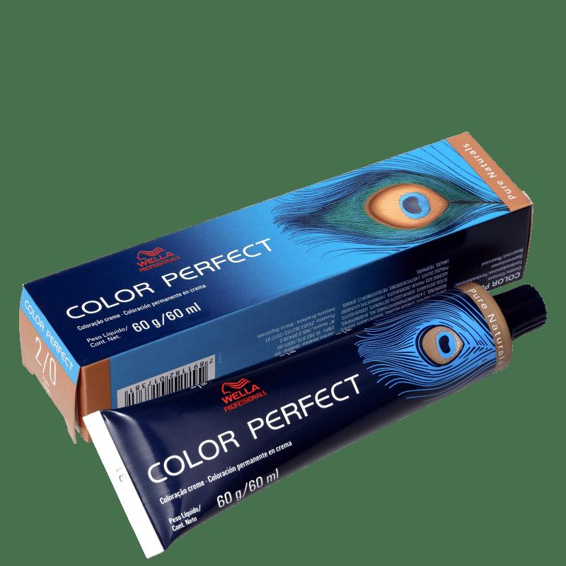 Wella Professionals Color Perfect 2/0 Preto - Coloração Permanente 60g