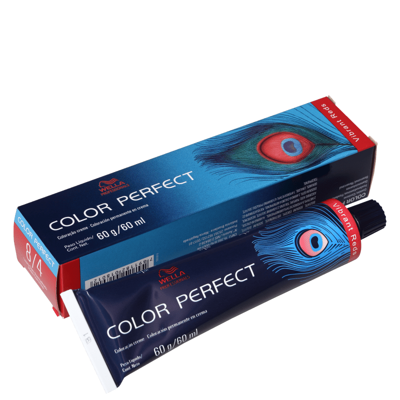 Wella Professionals Color Perfect 8/4 Louro Claro Avermelhado - Coloração Permanente 60g