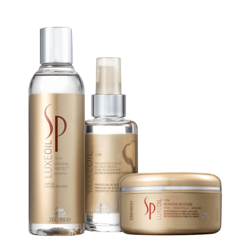 Kit SP System Professional Luxe Oil Keratin Trio (3 Produtos)