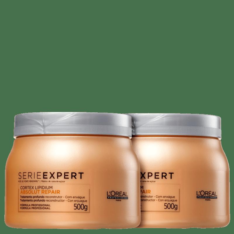 Kit L'Oréal Professionnel Expert Absolut Repair Cortex Lipidium - Máscara de Reconstrução 2x500g