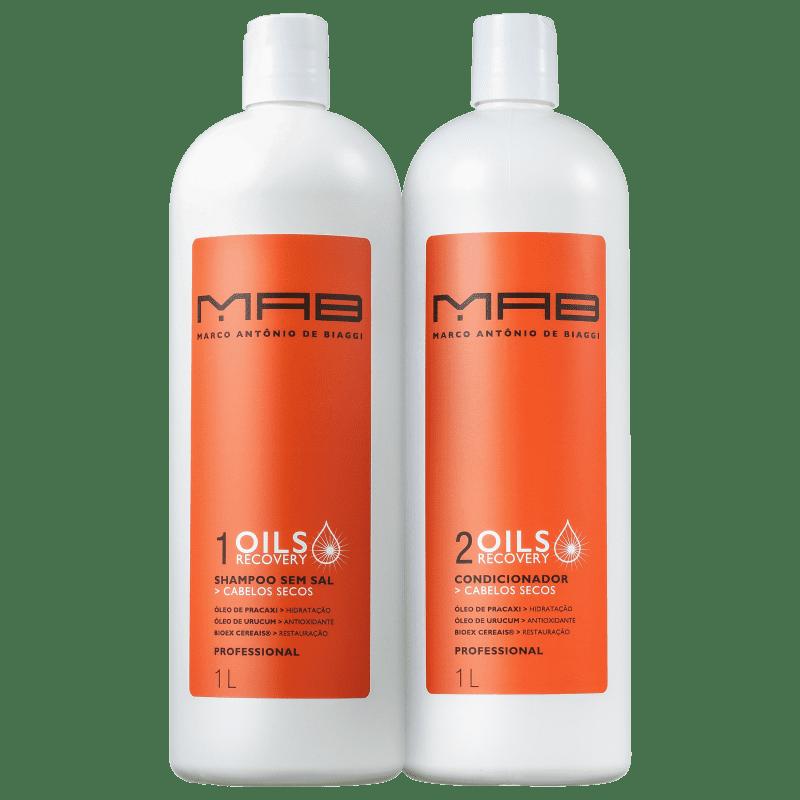 Kit MAB Marco Antônio de Biaggi Oils Recovery Duo Salão (2 Produtos)