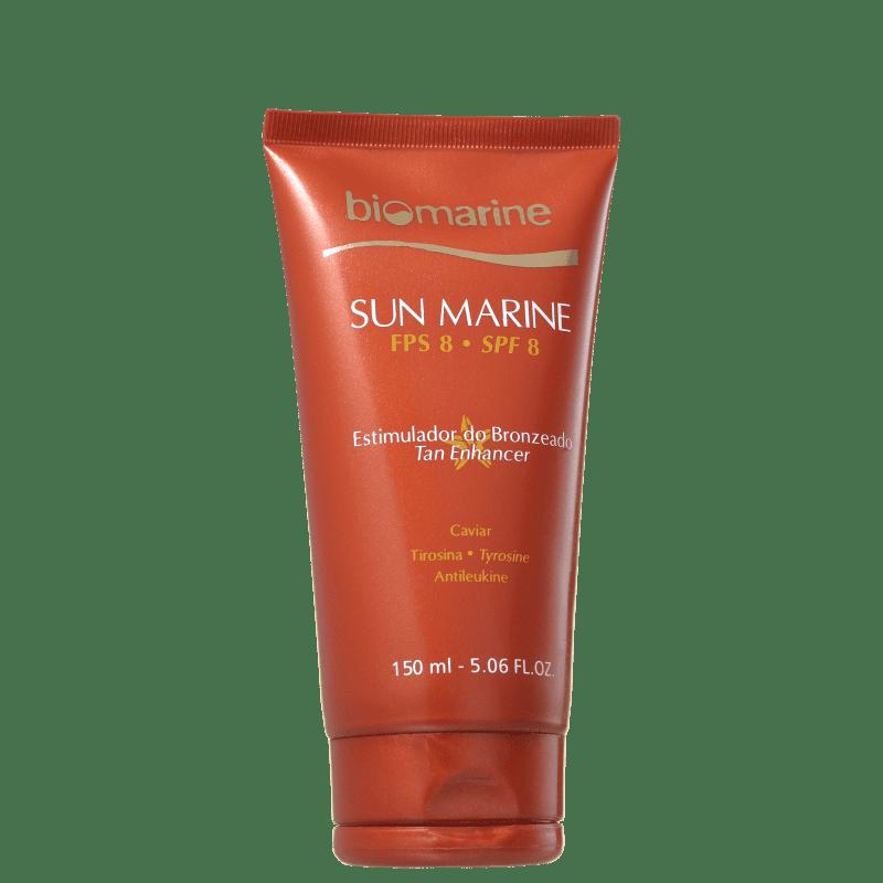 Biomarine Sun Marine Estimulador de Bronzeado FPS 8 - Bronzeador 150g