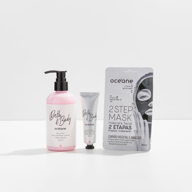 Kit Pink Peach + Máscara Facial Carvão Vegetal