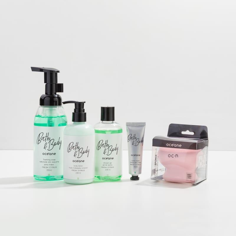 Kit Bath & Body Fresh Citrus Completo + Octopus Plus
