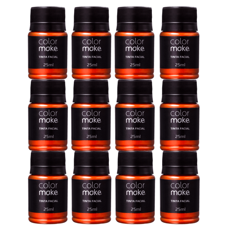 Kit Colormake Tinta Facial Laranja (12 Unidades)