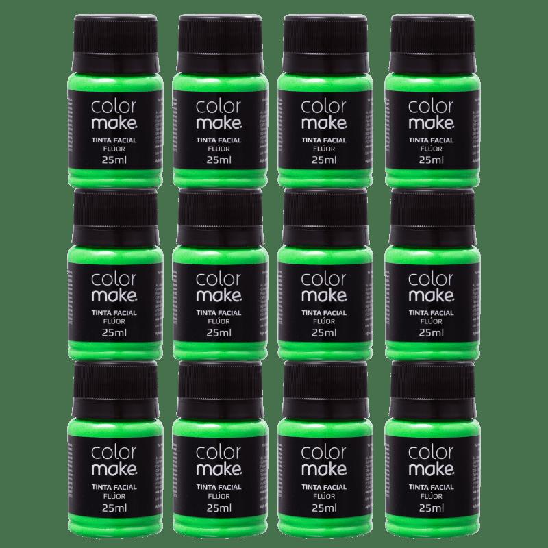 Kit Colormake Tinta Facial Verde (12 Unidades)