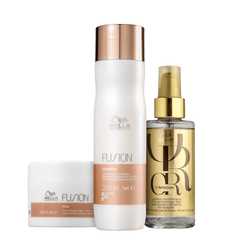 Kit Wella Professionals Fusion & Oil Reflection (3 Produtos)