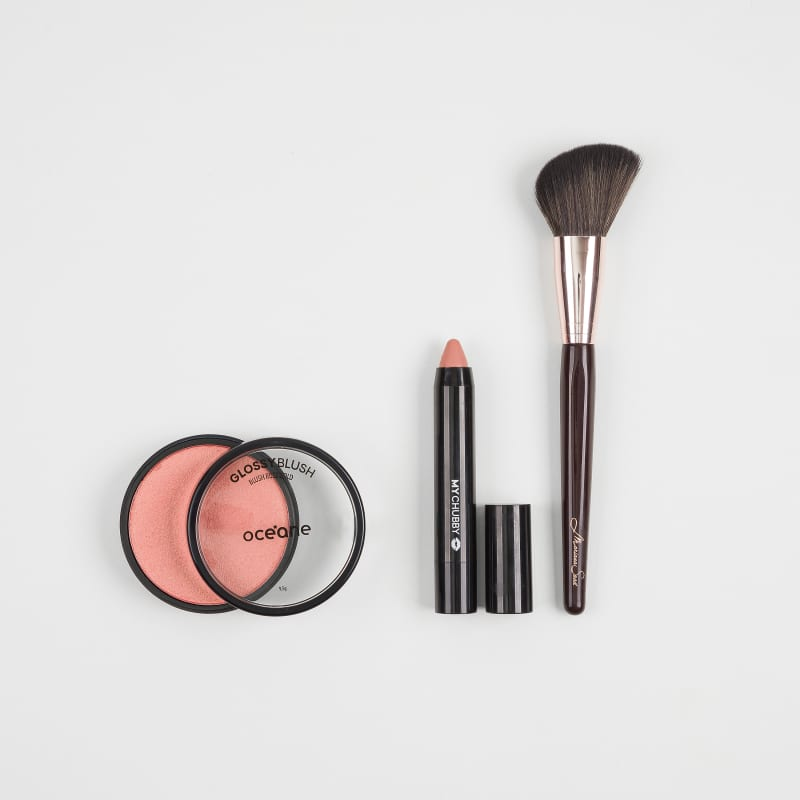 Kit Glossy Blush + Pincel + My Chubby Naked