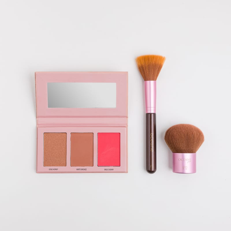 Kit Paleta Bronzer e Blush Collection + Pincéis