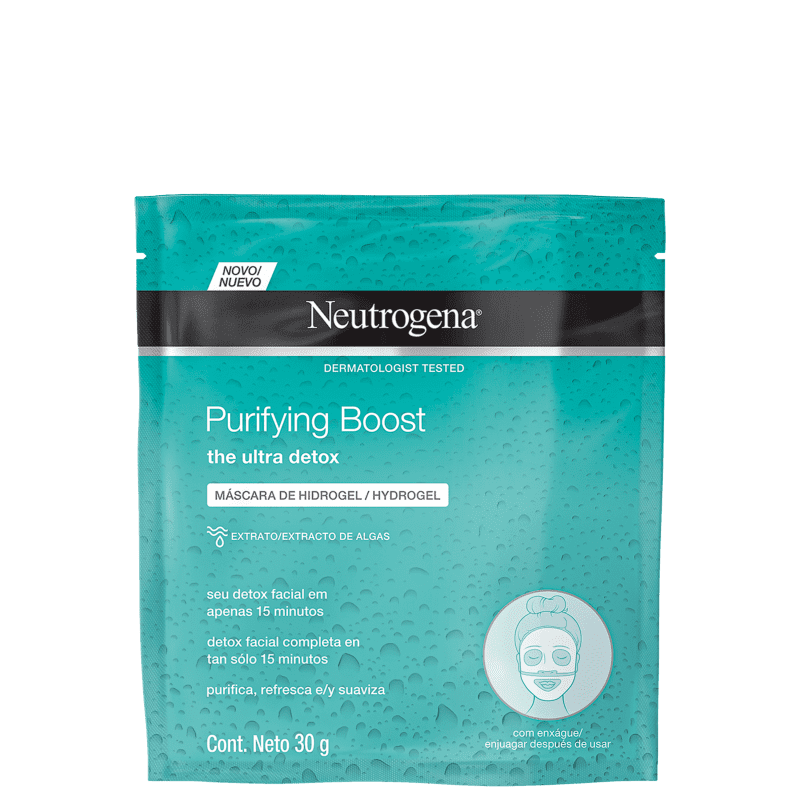 Neutrogena Purifying Boost Hydrogel Recovery - Máscara Facial 30ml
