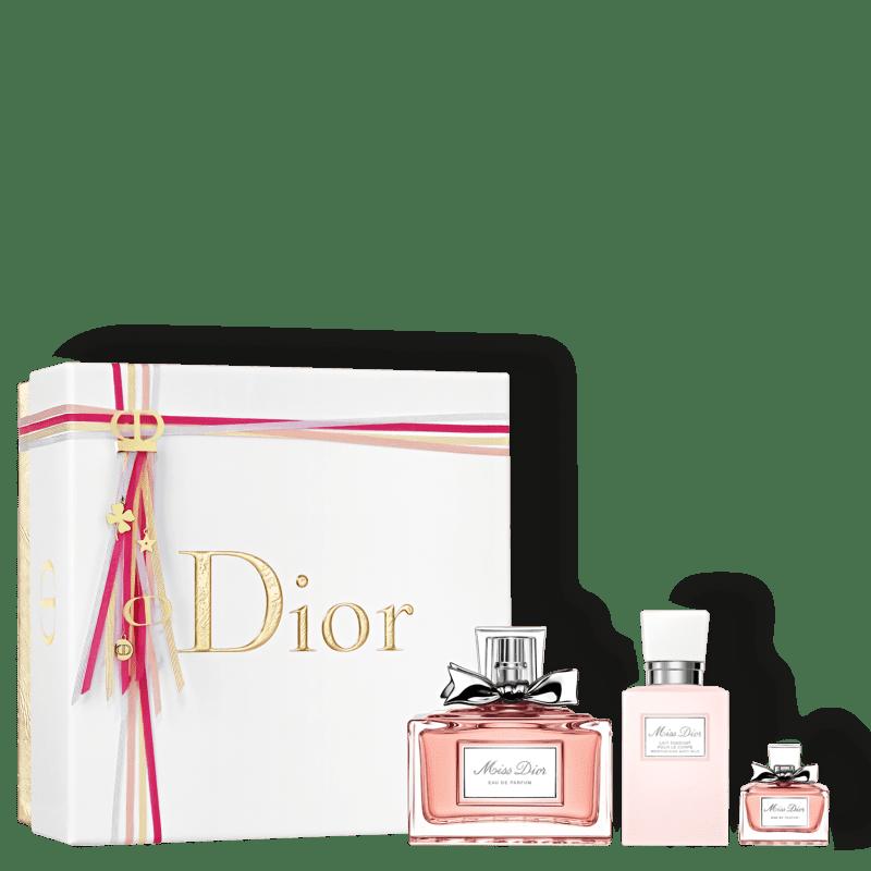 Conjunto Miss Dior Trio Feminino - Eau de Parfum 100ml + Miniatura 5ml + Loção Corporal 75ml