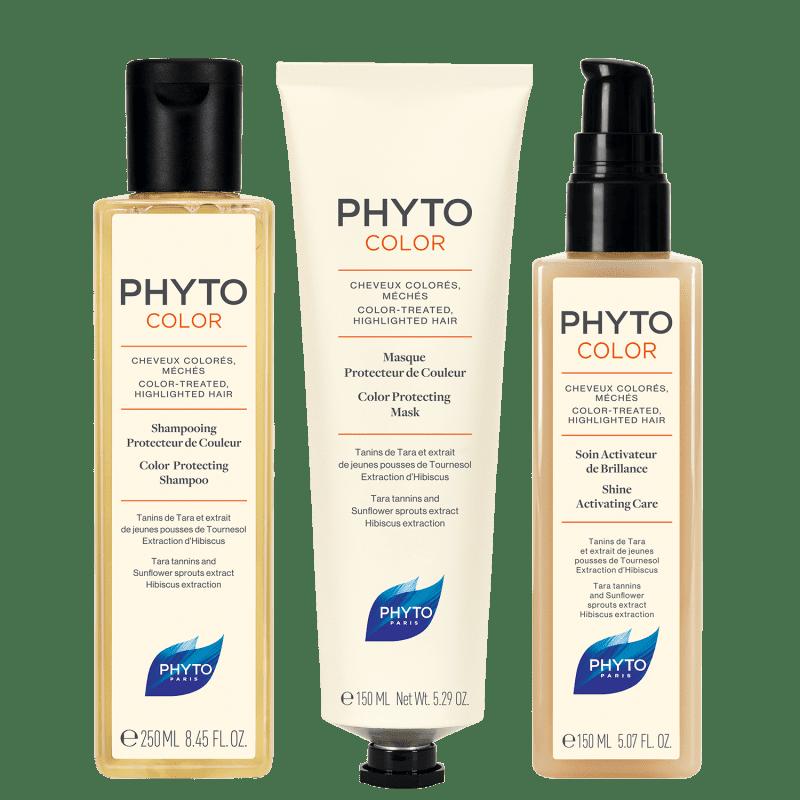 Rotina Para Cabelos Coloridos PHYTOCOLOR (3 produtos)
