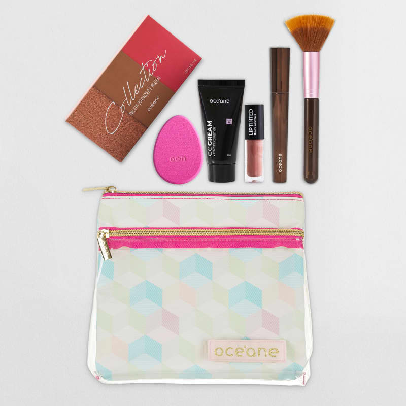 Kit Make para Viagens (paleta de bronzer e blush)