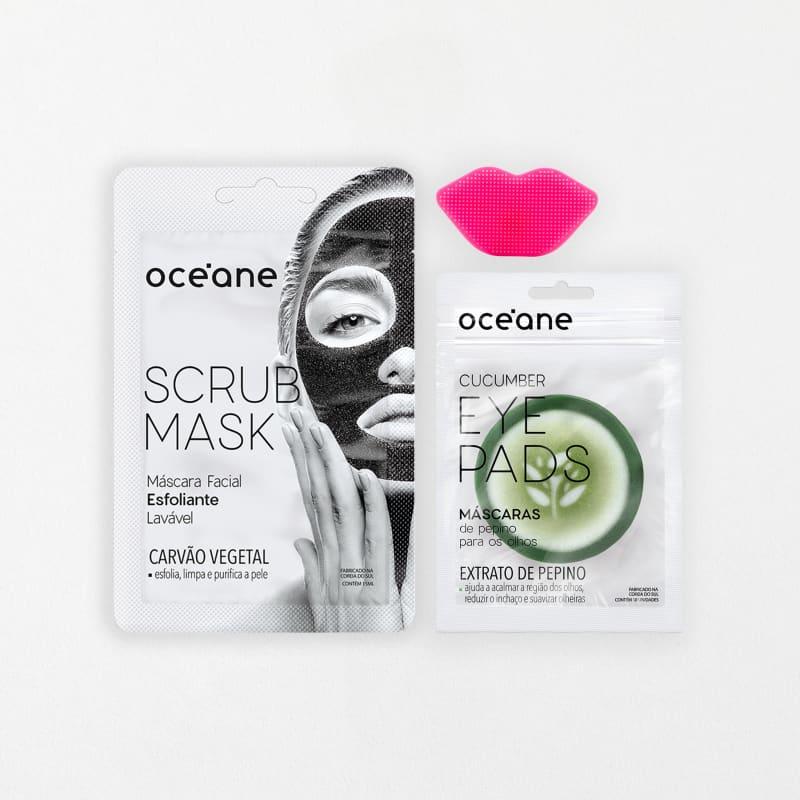 Kit Scrub Mask + Lip Scrub + Cucumber Eye Pads
