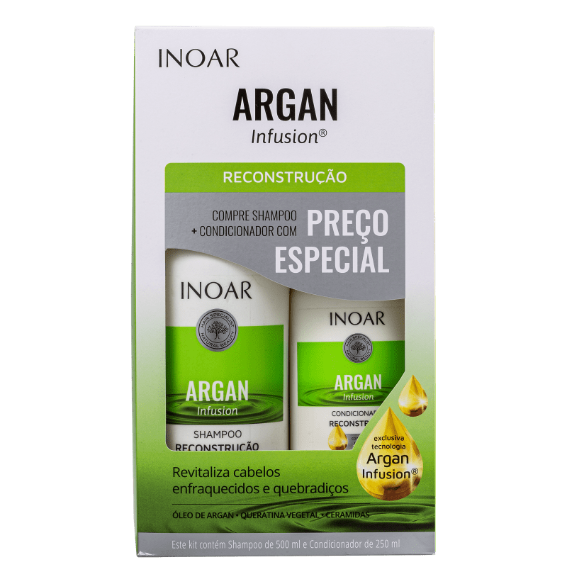 Kit Inoar Argan Infusion Reconstrução (2 Produtos)