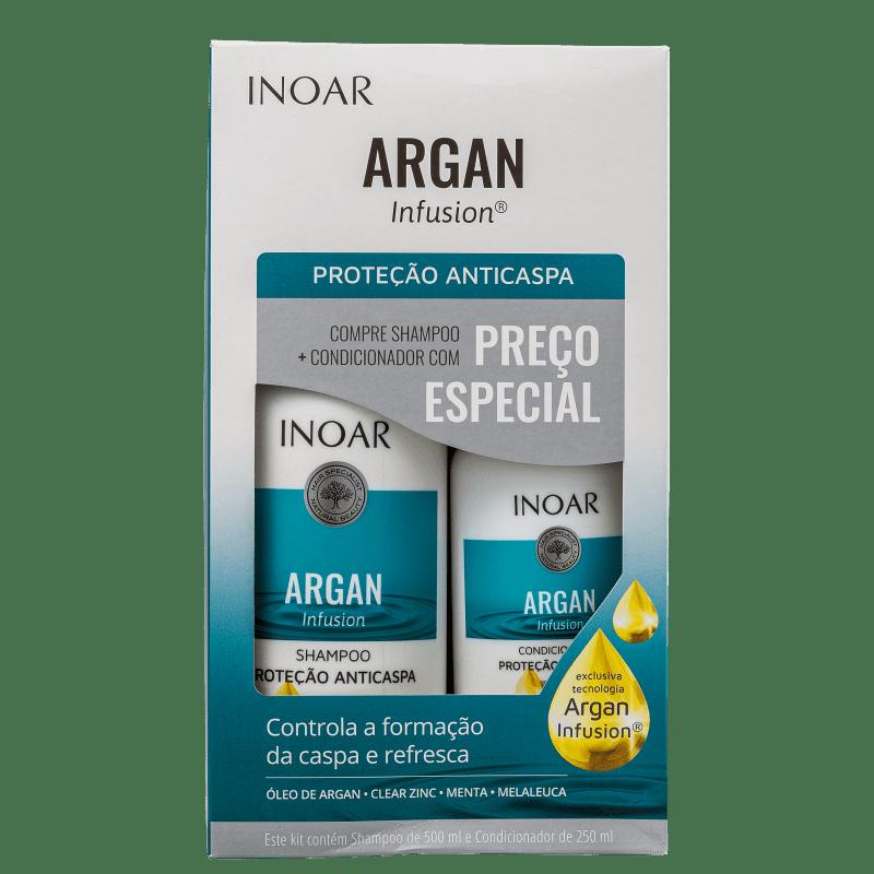 Kit Inoar Argan Infusion Proteção Anticaspa (2 Produtos)