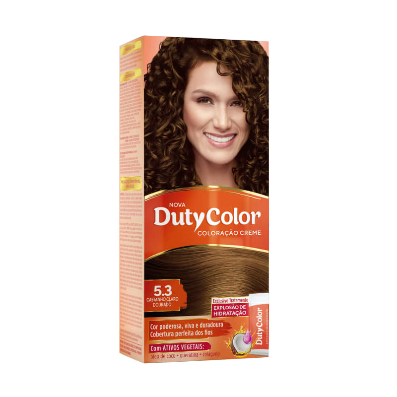 DutyColor 5.3 Castanho Claro Dourado - Coloração Permanente
