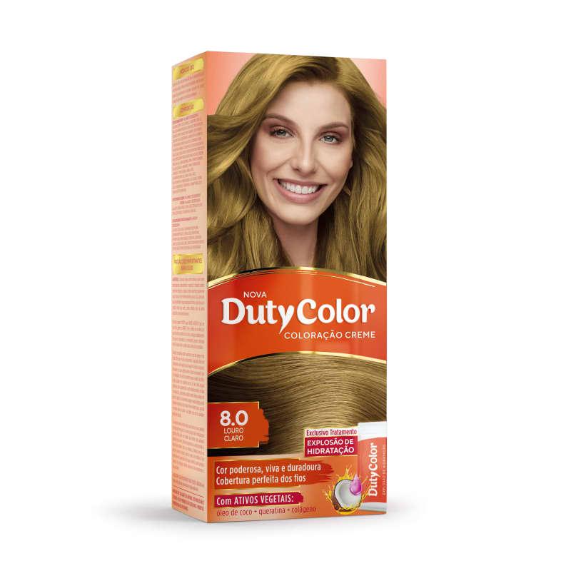 DutyColor 8.0 Louro Claro - Coloração Permanente